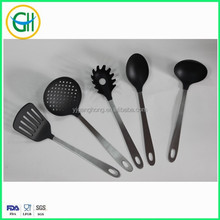 5 pieces nylon kitchen utensil with whole stainless steel handle