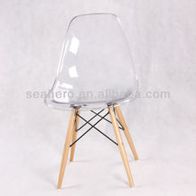 Eames transparent side dining chair