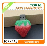 Sweet Srawberry design cheaper unit price female usb flash drive with 2.0 high speed