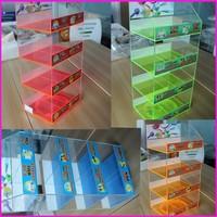 Optional Color 8 Section Rotating Counter Acrylic Portable Battery Power Bank Display Stand Supermarket Acrylic Display