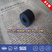 Custom made small bush black silicone rubber sleeve for tube