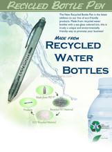 promotional recycled bottle PET ball point pen bottle pen