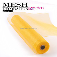 Golden solid deco mesh for various christmas mesh bow designing