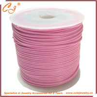Multicolor Korea style jewelry wax cotton cord strings in rolls pink 1.5mm