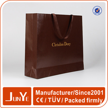 Printed custom made reusable promotion ribbon tie gift bags