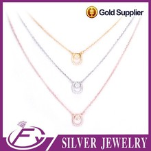 Unique style cz stone 925 silver price per gram name necklace