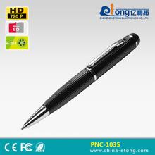 Pen Small Hidden Video recording Megapixel Cameras support 32GB SD