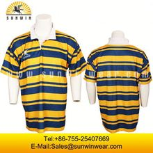 100%polyester rugby jerseys/cheap plain football shirts
