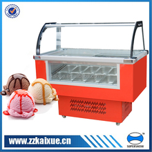 gelato display case with front glass