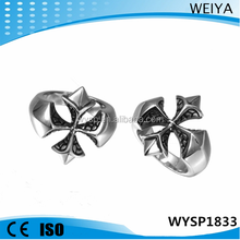 Wholesale cheap 316l stainless steel mens jewelry custom cross casting ring