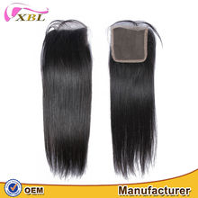 Premium quality Malaysian virgin straight hair lace closure free parting