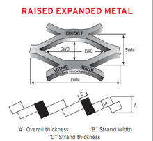 high quality diamond raised expanded metal mesh