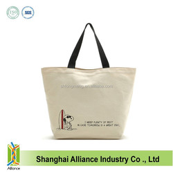 OEM Good Quality Hot Stamping 10OZ Canvas Tote Bag With Bottom,Women Large Capacity Shopping Bag FH113