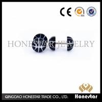 Fake Stretcher Earrings Plug Piercing Ear Plug Tunnel with basketball pattern