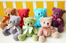 "20cm/7.87"" 7 Colors Little Stuffed Animal Teddy Bear Plush Doll Toy Baby Gift/Creative soft stuffed colorful plush bear toy"