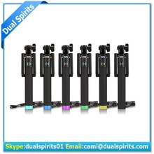 Latest foldable wireless monopod selfie stick with bluetooth for cell phones