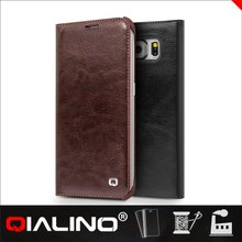 QIALINO 100% Warranty Newest Model Uk Flag Leather Case For Galaxy S6 For Edge