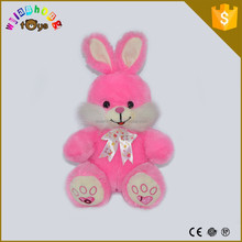 Popular Child Soft Toy Stuffed Animal Blush Plush Large Rabbit Toy With Bow Tie