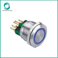 Illuminated and Non-Illuminated 22mm Momentary 2NO2NC stainless steel 6 pin push button switch