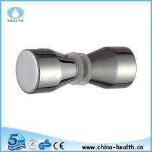 chrome finish aluminum alloy cone glass door handle