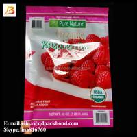 Wholesale three side seal ziplock plastic food packaging bag
