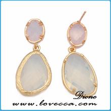 geode agate dangle earrings druzy stud earrings