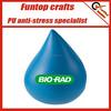 Great promo gift custom printed water drop stress ball