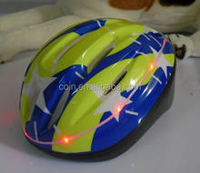 Bicycle Bike Cycling Scooter Skate Protect Safety Helmet With Led Flashing Size 52-56CM
