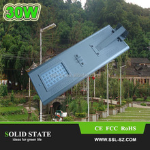 Smart integrated 6W-60W prices of solar street lights with IP65 rating