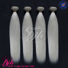Factory price brazilian human hair white color natural straight.