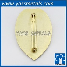 High quality metal military badge clip safety pin