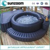 SUNZOOM inflatable bath tub, hot tub, inflatable bathtub for 4 to 8 adults