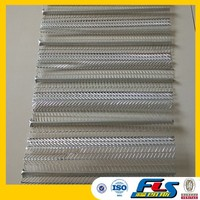 "Galvanized Ribbed 1/8"" Flat Expanded Steel Sheet"