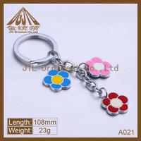 Fashion metal mini flower key chain