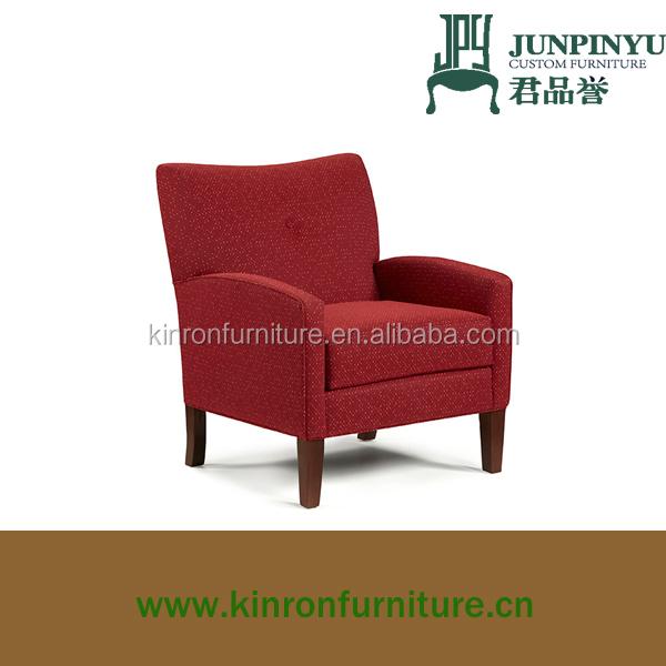 Tapizado de tela red hotel sala de muebles de madera de la sala de ...