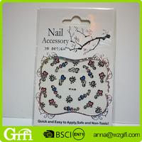 Design 3D nail art sticker art nail sticker
