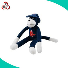 OEM long arms black small monkey stuffed with hat