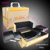 Noconi 2015 newest fashionable style yellow aluminum makeup case/cosmetic case