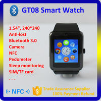 Fashion GT08 Smart Watch Phone, Watch Mobile Phones,bluetooth watch with IOS and wrist watch phone