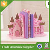 New Products Pink Castle Polyresin Children Wholesale Bookends