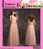 2015 High Quality Pink Plus Size Evening Dress Alibaba Hot Sale Long Style Wholesale Ladies Party Dress