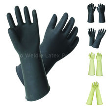 Industrial Thickness Rubber safety gloves for hands protection(PWD36A-1B001)
