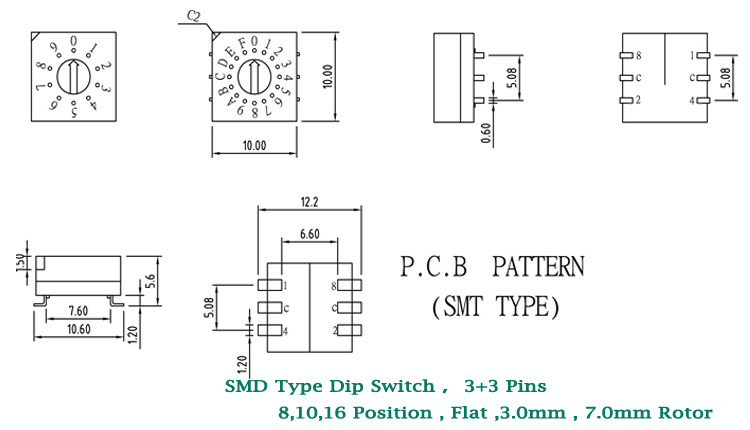 dip rotary switch wiring diagram prs 5 way rotary switch wiring rotary switch circuit diagram manual change over switch 10 position smd rotary dip switch buy wiring a switch to an