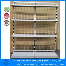 Singgle side display metal supermarket shelf HL97A