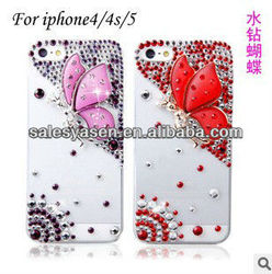 2013 diamond butterfly case for iphone 5,diamond cover for iphone 5
