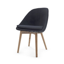 Fiberglass Diana Side chair/solo dining chair /wool fabric to upholster dining chair