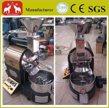 Automatic commercial coffee bean roaster with stainless steel drum