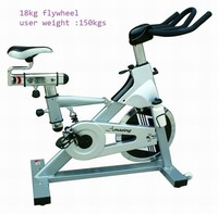 high quality fitness club exercise bike AMA-912M indoor giant spinning bike with18kg flywheel