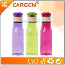 Factory supplied BPA free tritan 450ml plastic water bottle with handle
