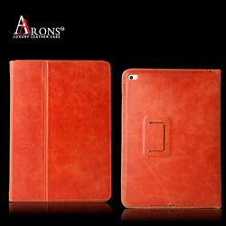 Premium book opening cover case with magnetic leather case for ipad mini
